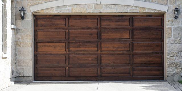 Wooden Garage Door Garden City